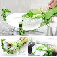 Handheld Automatic Dish Scrubber Brush Antibacterial Kitchen Dishwasher Brush Mini Dishes Washing tool Kitchen Bowl Brush 2018