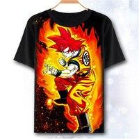 New COOL Dragon Ball Z T shirt Anime Son Goku Saiyan Men t shirt Cotton Summer Loose women Tees tops