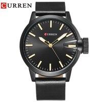 Fashion Top Luxury Brand CURREN Watches Men Leather Strap Quartz Watch Sports Military Army Clock Man