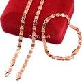 4.5 MM de Ancho Conjunto Joyería de Los Hombres Para Mujer Rose Gold Filled Cadenas de Acoplamiento Del Collar Pulsera Juegos de Joyería 6 Estilo Elegir