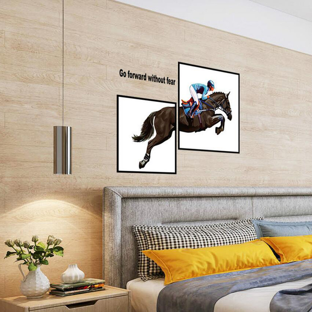 Horse sticker wall art - Self Adhesive Frameless Painting Home Decor Wall Stickers For Bedroom Removable Horse Wall Art