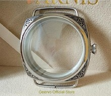 47 millimetri di Alta qualità 316L In acciaio inox 604 casse di orologi intaglio Decorativo modello fit 6497/6498 Mano Vento movimento 05A