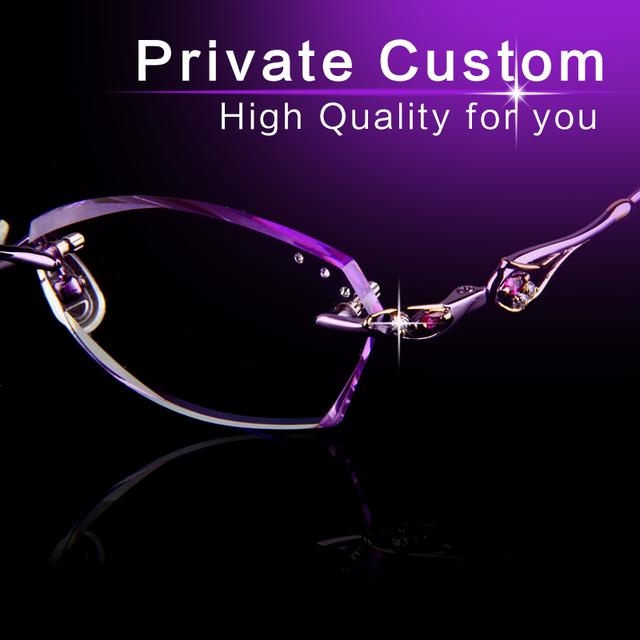 Gafas hombre Sin Marco de la tecnología de corte de Diamante de alta Calidad gafas de Lectura lente transparente moda Anteojos antifatiga, 705-1