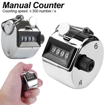 Metal housing mechanical counter Stainless Metal Mini Lap Golf Hand Held Manual Counting Tally Clicker Timer Soccer Golf Counter Counters
