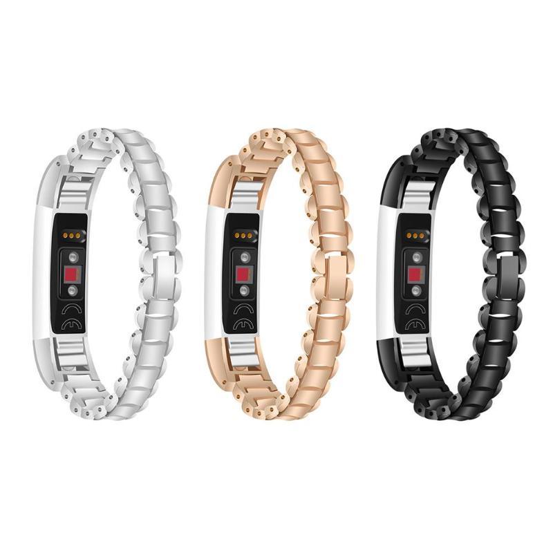 1Pcs 361L Steel Bracelet Watch Band Strap for Fitbit Alta/Alta HR Smart Watch Smart Wristband Bracelet Wearable Belt Strap New