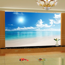 Let the Ocean Beach  with the  Blue Sky Clouds in your house