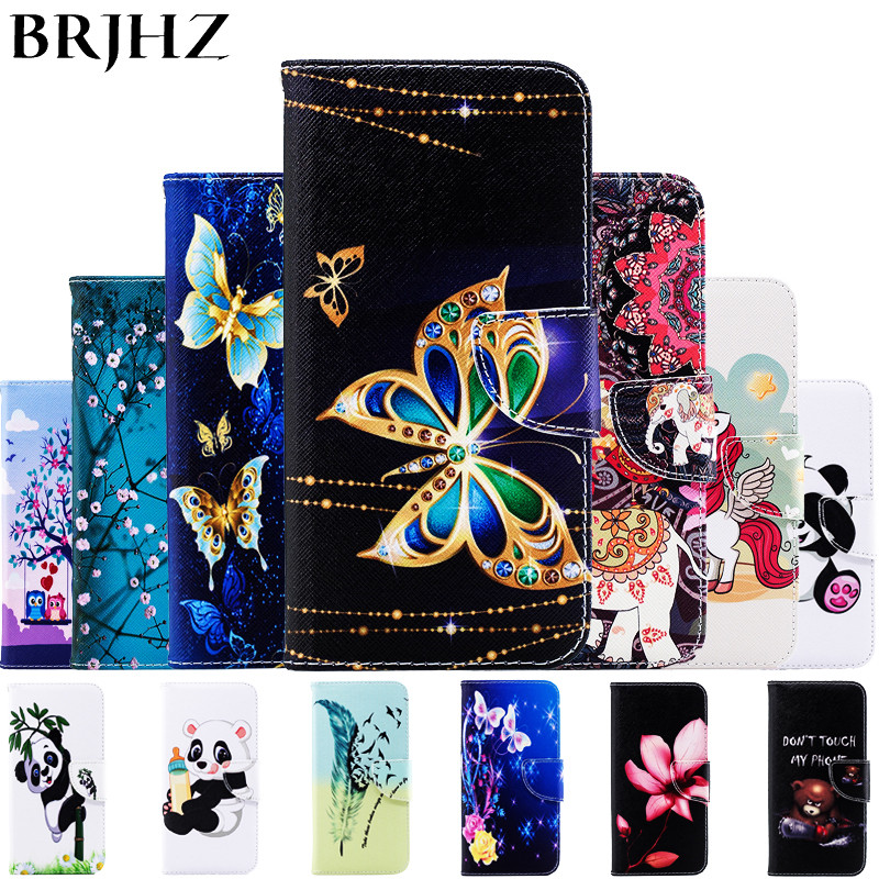 2019 Latest Design On Sfor Coque Huawei Honor 8c Case, Leather Case For Fundas Huawei Honor 8 C Case Cover Flip Wallet Painted Stand Phone Cases