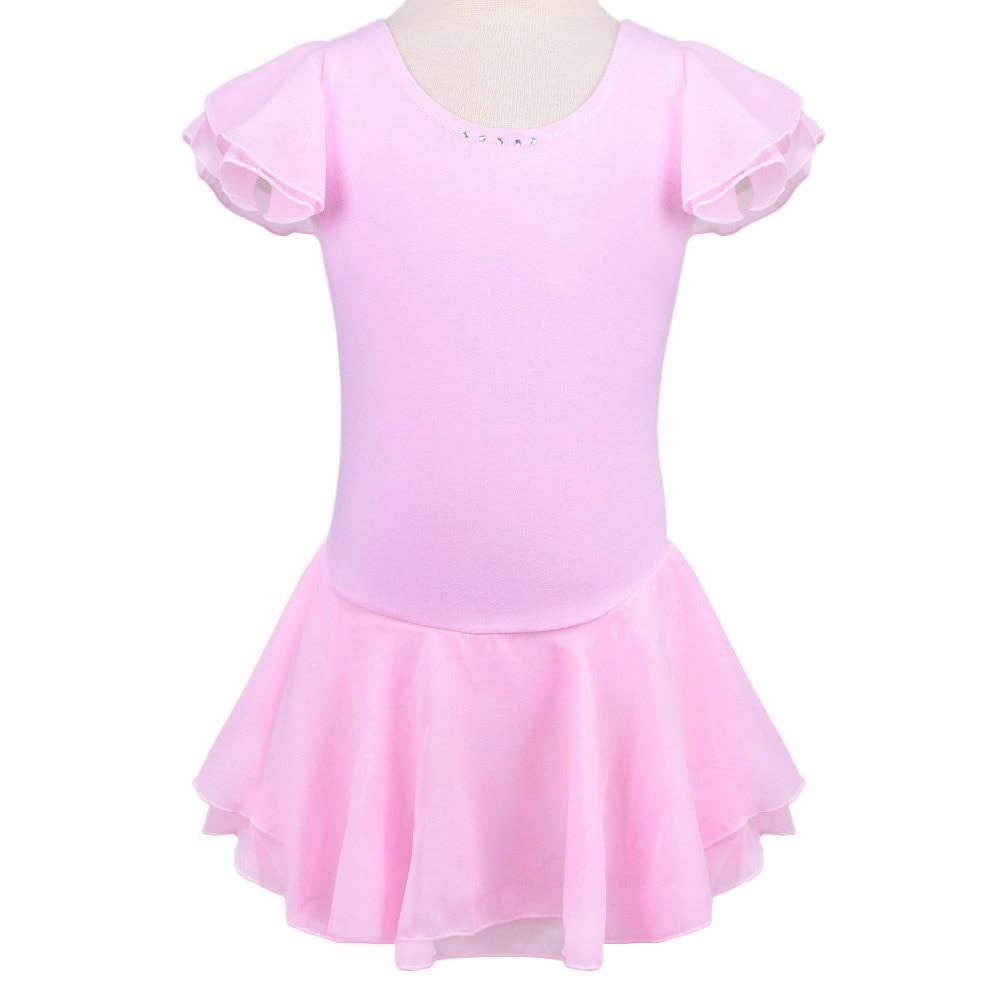 Retail Hot Sale Gymnastics Girls Middle Sleeve Dance Dress -2641