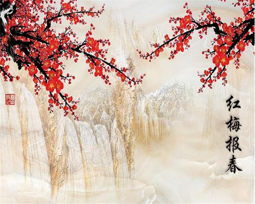 Most Inspiring Wallpaper Marble Landscape - Beibehang-3D-Wallpaper-Marble-Backdrop-Red-Plum-Primula-Stone-Landscape-Painting-Living-Room-Bedroom-TV-Background  Trends_624334.jpg