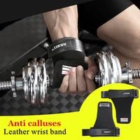 1 Paire En Cuir Poignet Wraps Bande Gym Haltérophilie Gants Pour Barre Horizontale Powerlifting Fitness Bracelet Palm Sport Protecteur