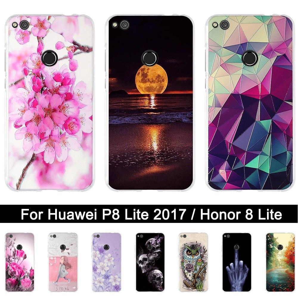 carcasa de silicona para huawei p8 lite 2017