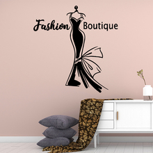 Colorful Fashion boutique Wall Stickers Adhesive Wallpaper Vinyl Removable Room Decoration For Kids Rooms Home Decor Decal Mural
