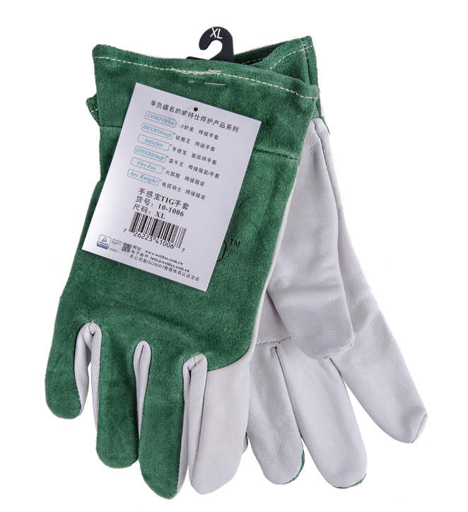 Goat Leather Safety Glove Welder Gloves TIG Welding Sheep Skin Leather Work Gloves oxygen welder safety gloves long sleeve tig mig welding work gloves