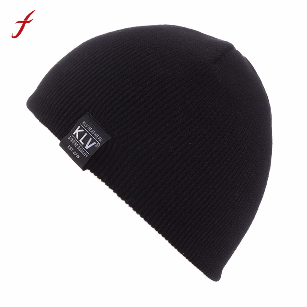 2017 Fashion Boy Girls Baggy Warm Crochet Winter Wool Knit Ski Beanie Skull Slouchy Caps Hat Casual Hats for girls Solid hats