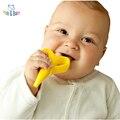 2016 Новый Высокое Качество Экологически Безопасного Детского Прорезыватель Зубное Кольцо Дети Банан Силикона Зубная Щетка Лиственные Зубная Щетка