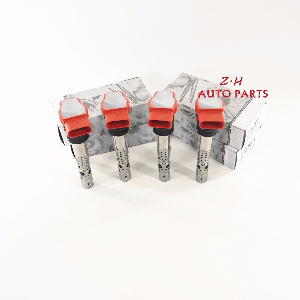 new 4pcs red lgnition coils 06c 905 115 l for audi a4 a6 new 4pcs red lgnition coils 06c 905 115 l for audi a4 a6 quattro 2001 2005 30l v6 uf483 c1471 5c1470 06c 905 115 m fandeluxe Choice Image