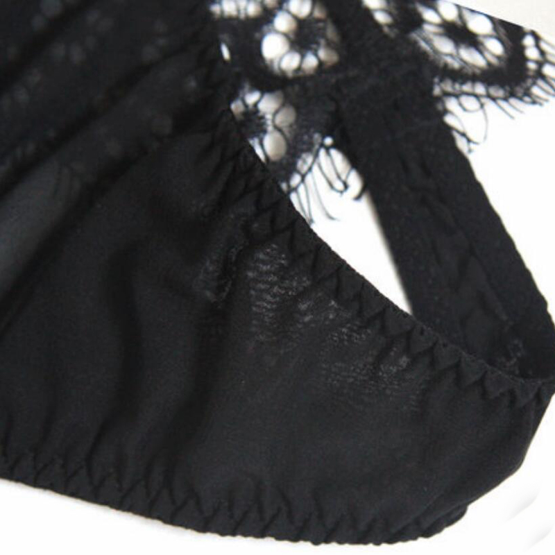 Bogeda Silk Underwear Women high quality sexy black panties floral lace thong lingerie silk G string Women Free Shipping in women 39 s panties from Underwear amp Sleepwears