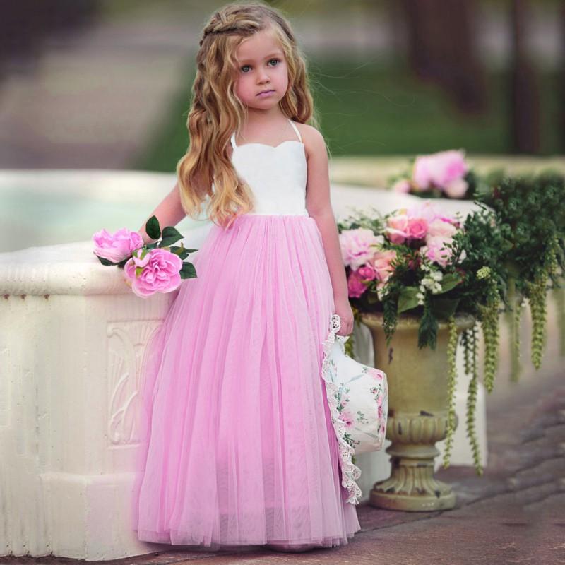 Vestido de princesa para Niñas ropa sin mangas malla Vestidos de ...