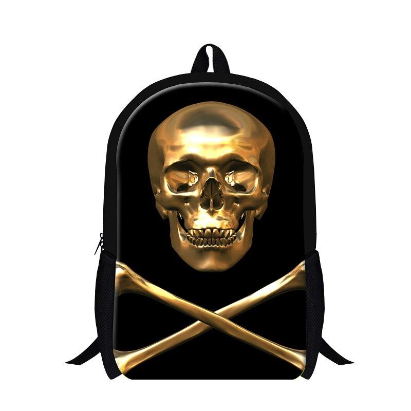 Fashion Cool Skeleton Print Men Backpack Skull Hot School Bag For Teenagers Casual Travel Shoulder Bags Kids Rucksack Mochila ozuko men s backpacks school backpack bag multifunction for teenagers men women casual travel shoulder bags fashion male mochila