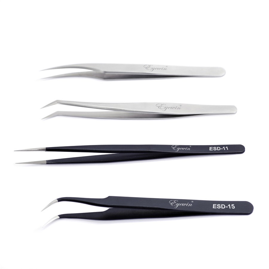 Eyewin Tweezers For Eyelash Extension Eyelash Tools Supply Accessory Kits Profession Stainless High Quality Tweezers Makeup