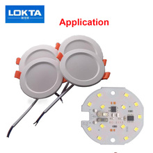 LED SMD Chip 5W 7W 9W 12W 220V Input Smart IC driver light beads Fit For DIY Downlight ceiling lamp white Warmwhite 10pcs lot led lamp 220v cob chip overvoltage protection smart ic no driver 50w light beads for diy spotlight downlight