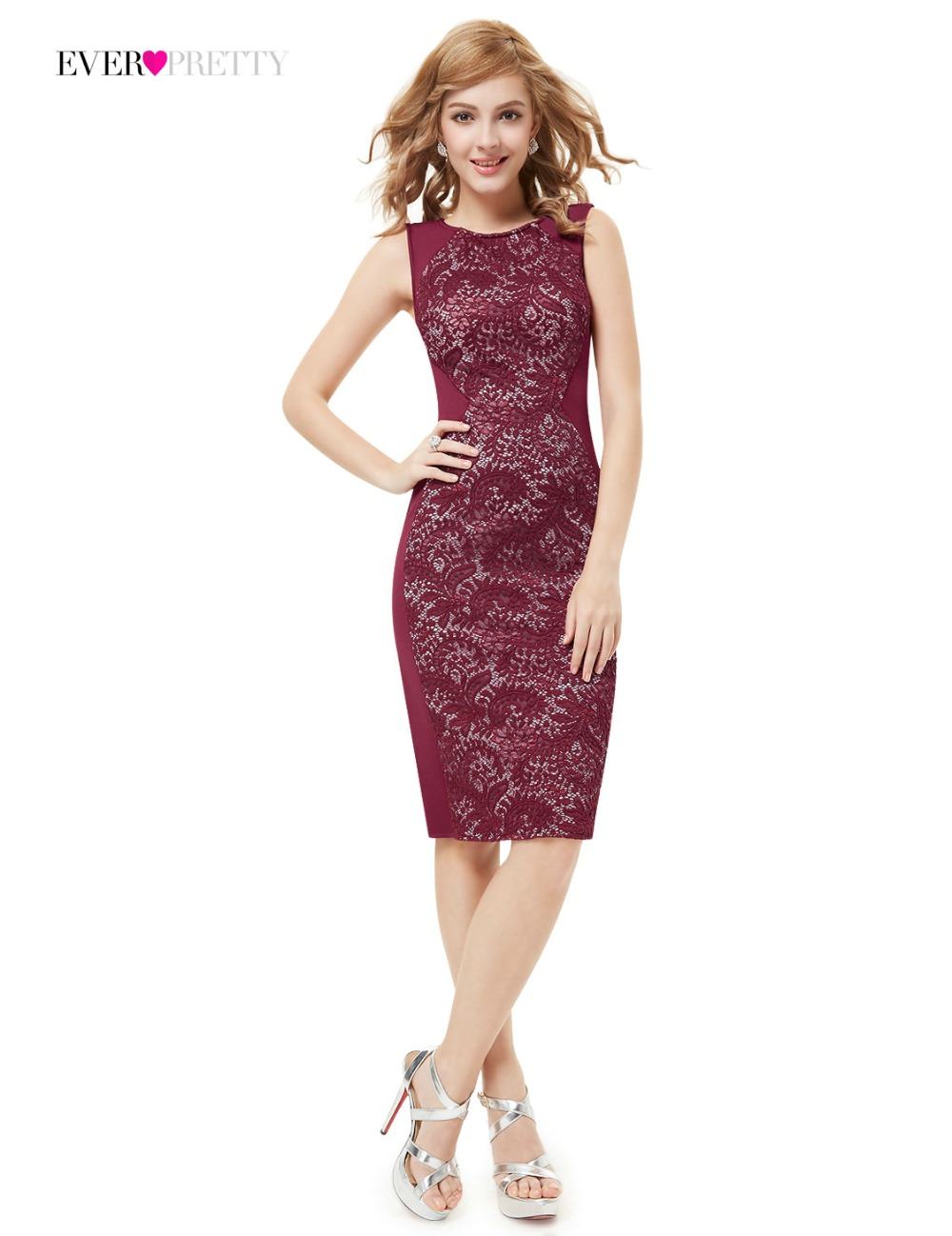 [Clearance Sale] Cocktail Dresses HE05336 Lace Elegant Vintage Hot Sale Modern Sleeveless Straight Cocktail Dress for Women