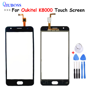 For Oukitel K8000 Touch Screen Digitizer Glass Panel Touch Replacement For Oukitel K8000 Front Glass Touchscreen No lcd display image