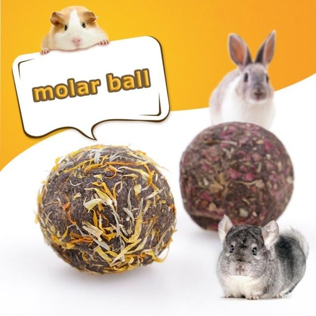 Для кормления животных Цветочные шары хомяков моляров шары кролик Шиншилла закуски животные игрушки Здоровый Безопасный съедобные лечения поставки