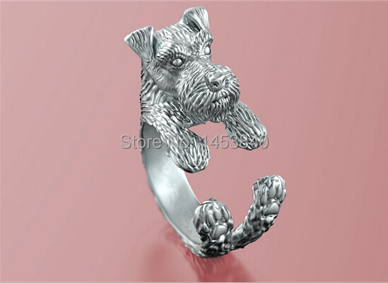 US $37 79 |Unique Handmade Boho Chic Retro Miniature Schnauzer Ring Female  and Male Pet Lovers Gift Idea 12pcs/lot(3 Colors Free Choice)-in Engagement