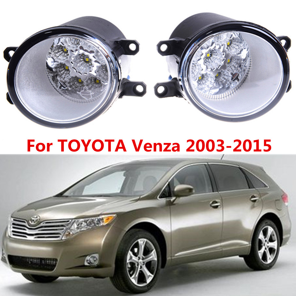 For TOYOTA Venza 2009-2015 Car styling front bumper LED fog Lights high brightness fog lamps 1set for lexus rx gyl1 ggl15 agl10 450h awd 350 awd 2008 2013 car styling led fog lights high brightness fog lamps 1set