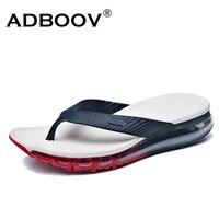 ADBOOV Volle Luftpolster Flip-Flops Männer Outdoor Home Hausschuhe Mens Sommer Schuhe Chinelo Masculino Blau/Schwarz/Splitter
