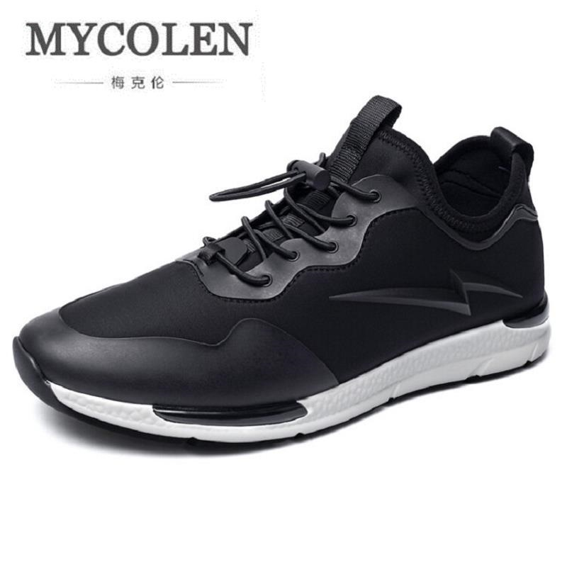 MYCOLEN Men Casual Shoes Walking Comfortable Leather Men Shoes Designer Breathable Lace up Men's Flats Shoes chaussures genuine leather men casual shoes plus size comfortable flats shoes fashion walking men shoes