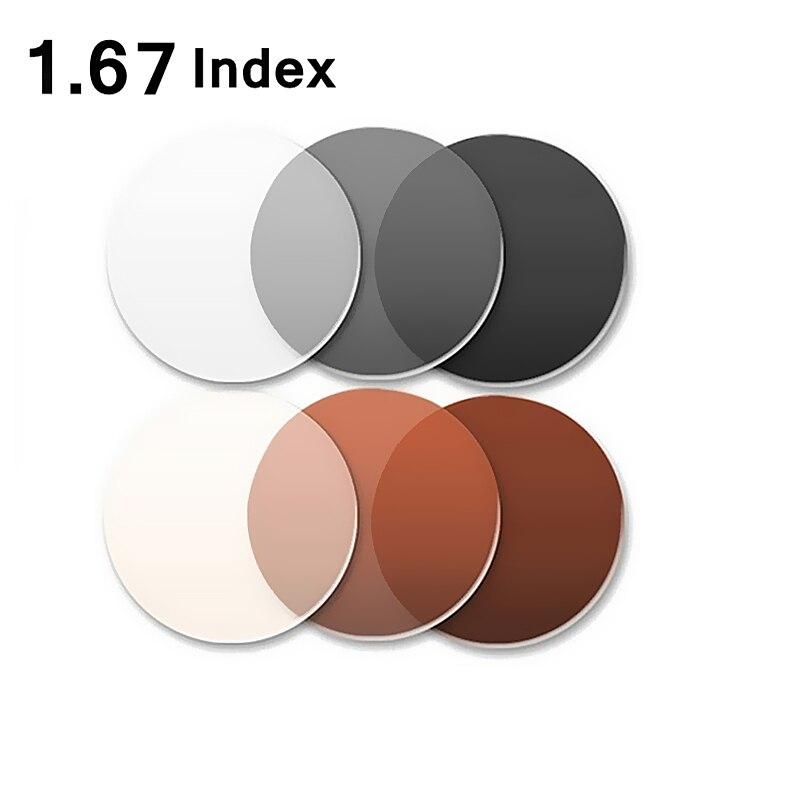 2 amp; Uv Lens 67 Presbyopie Korrekturgläser Anti Index 1 Myopie radiation Photochrome Stück Farbe Asphärische Einstärken 6PndxdqB
