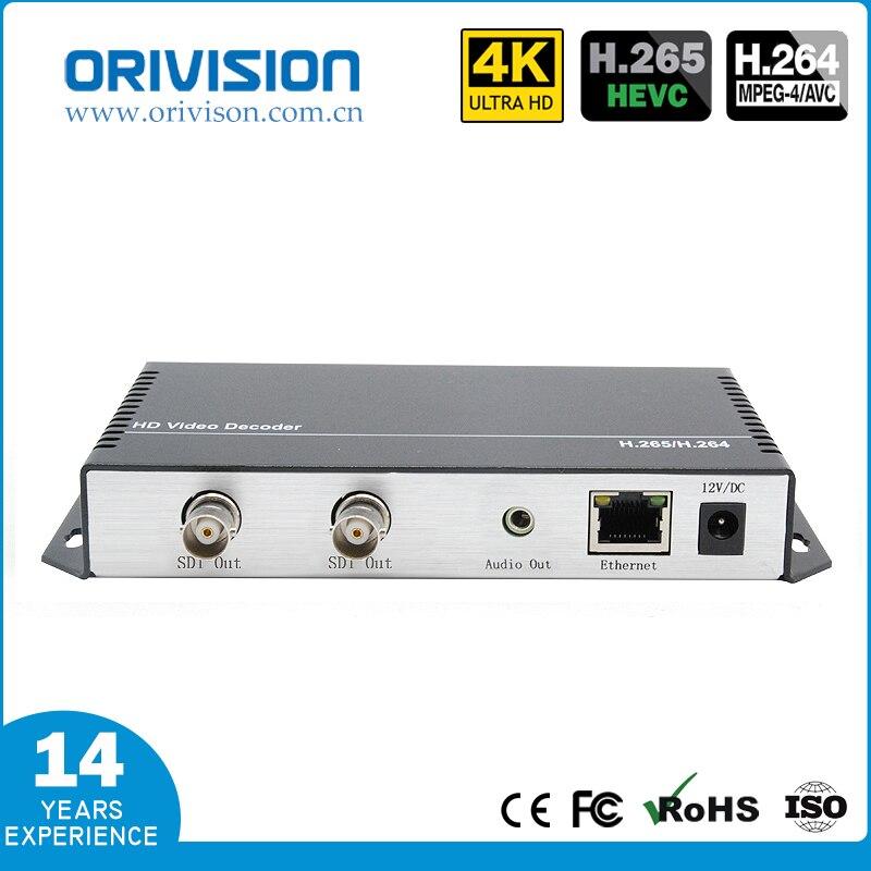 Decodificador de Vídeo SDI ZY-DS301 H.265/H.264 1080 P deocer suporte HTTP, RTSP, RTMP, UTP, DUP/RTP