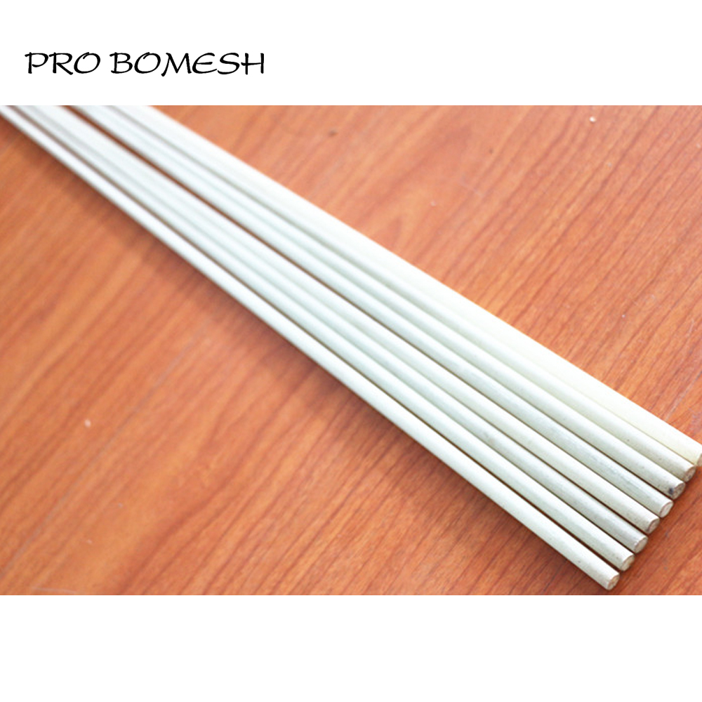 Pro Bomesh 2PCS/Lot 72CM 1 Section Solid Fiber Glass Ice Rod Blank Refitting Tip For Boat Rod DIY Rod Building Repair