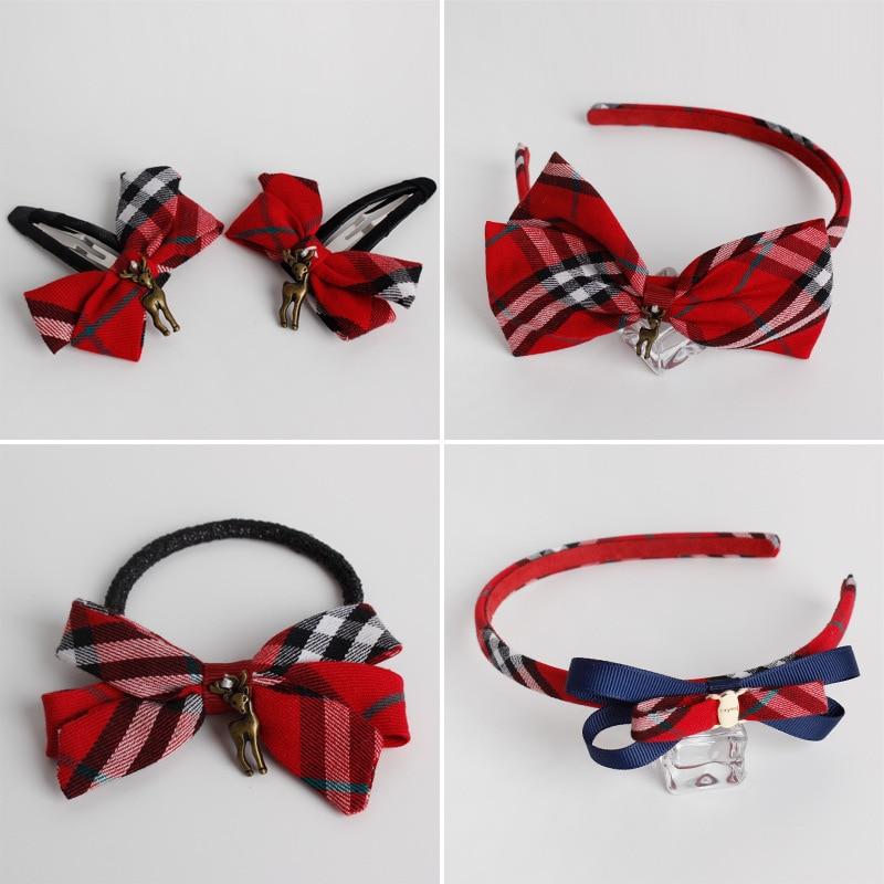 british style plaid hair accessories