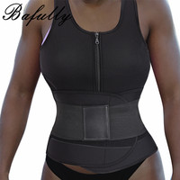 Neoprene Hot Body Shaper Sweat Sauna Shapewear Tops Compression Hourglass Black Waist Trainer Corset Belt Trimming Vest Female