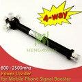 N женский делитель мощности 4 разъём(ов) полости делитель мощности 800 - 2500 мГц для 2 г 3 г 4 г мобильный телефон усилитель сигнала wi-fi ретранслятор