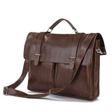 J.M.D 100% Guarantee Genuine Leather Vintage Fashion Brown Business Document Bag 15 Laptop Messenger 7100B