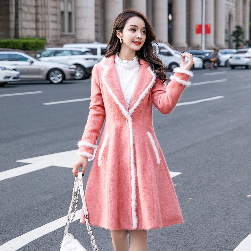 2018Winter Fashion Ladies Elegant Long Overcoats Winter Pinched Waist Big Bottom Cultivating Trench Coat Outwear Plus Size XXXXL