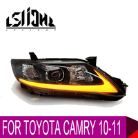 LSlight For Toyota Camry 2010 2011 USA Type LED Headlight Assembly Bulbs Light Stop Brake Turn Signal DRL LOW HIGH BEAM LENS