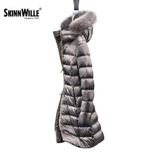 2016 new winter jacket Girls long section of the women's European style minimalist white goose down jacket