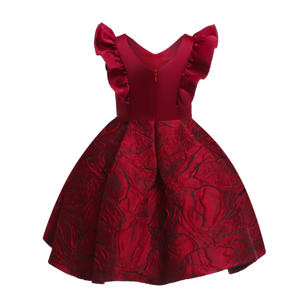 Floral Girl Dresses 2019 Summer Princess Costumes Wedding Child Clothing Ruffles Kids Dress For Girls Formal Prom Gowns 10 Years (1)