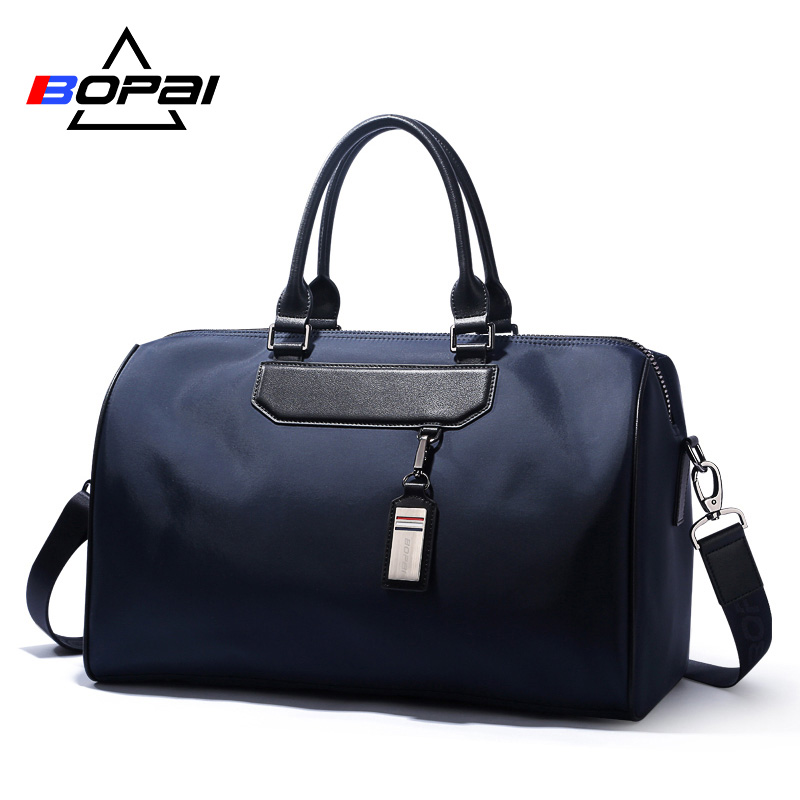 BOPAI Weekend Travel Shoulder Bags Fashion Top Handle Tote Men Travel Bags  Black Blue Women Travel Duffel Bags Cool Male Bag -in Travel Bags from  Luggage ... 6adc70962c2f5