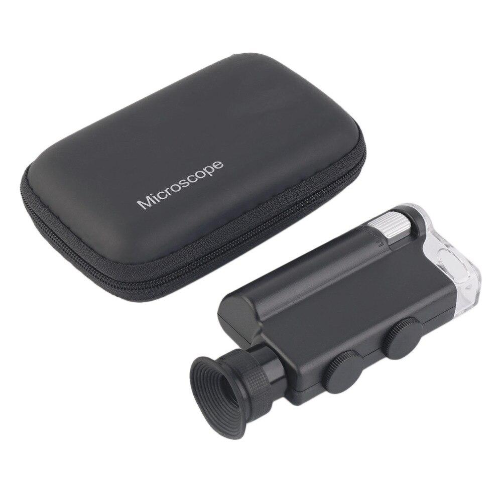 2017 NOUVEAU Mini portable Microscope de Poche 200X ~ 240X De Poche LED Lampe Lumière Loupe Zoom Loupe Loupe Lentille De Poche
