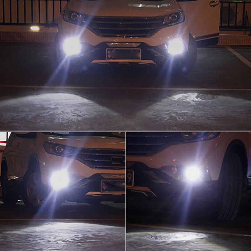 2 шт. H11 H8 светодиодные лампы H7 9005 HB3 9006 HB4 H16 5202 PS X 24 W PY24W 5200 P13W светодиодная Автомобильная противотуманная фара 1200LM белый 12 V 24 V автомобильные лампы накаливания