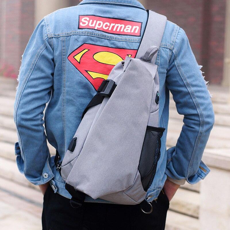 fashion Brand Canvas Men Chest Pack Crossbody Bag Casual Travel . 3ed8345de6