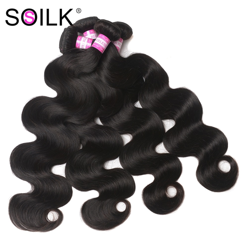 Lélegezhető perui test hullám haj 8-30 cm 4 csomag ajánlatok Body - Emberi haj (fekete)