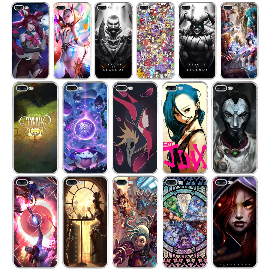 Half-wrapped Case Wengyx Lol Support Leona Slim Silicone Soft Phone Case For Iphone X 8 8plus 7 7plus 6 6s Plus 5 5s 5c Se 4 4s