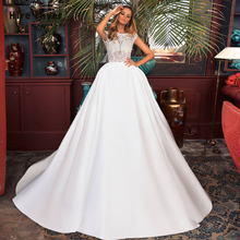 HIRE LNYER Cap Sleeve Backless wedding Dresses With